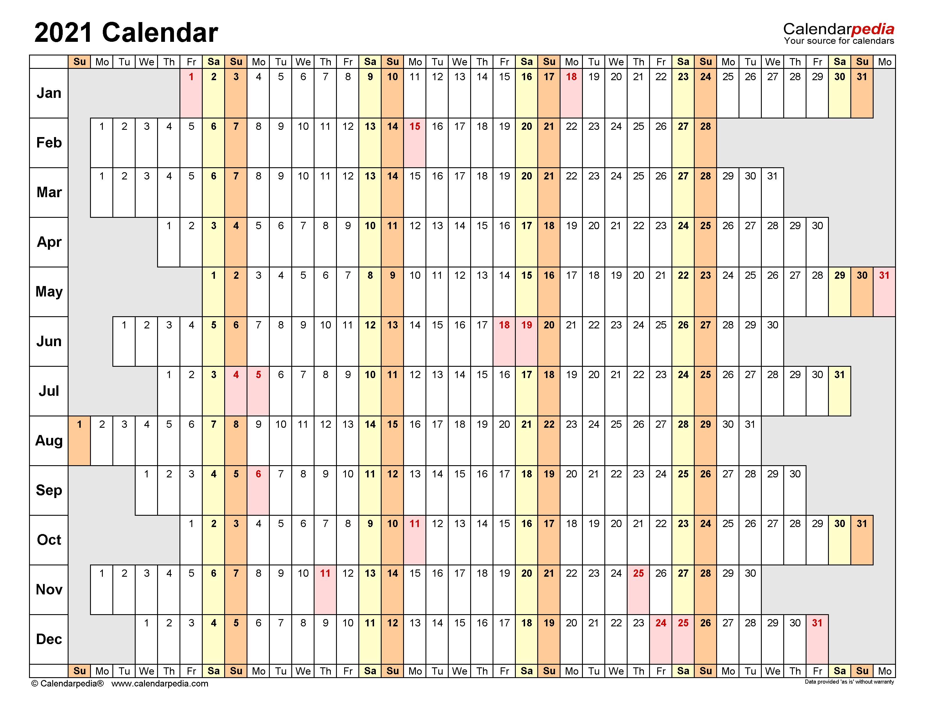 2021 Calendar   Free Printable Excel Templates   Calendarpedia