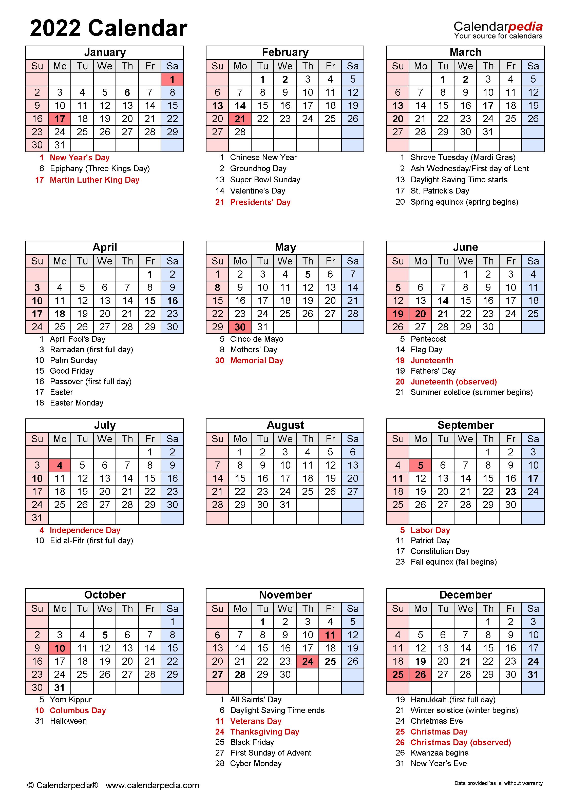 Chinese New Year Calendar 2022.2022 Calendar Free Printable Excel Templates Calendarpedia