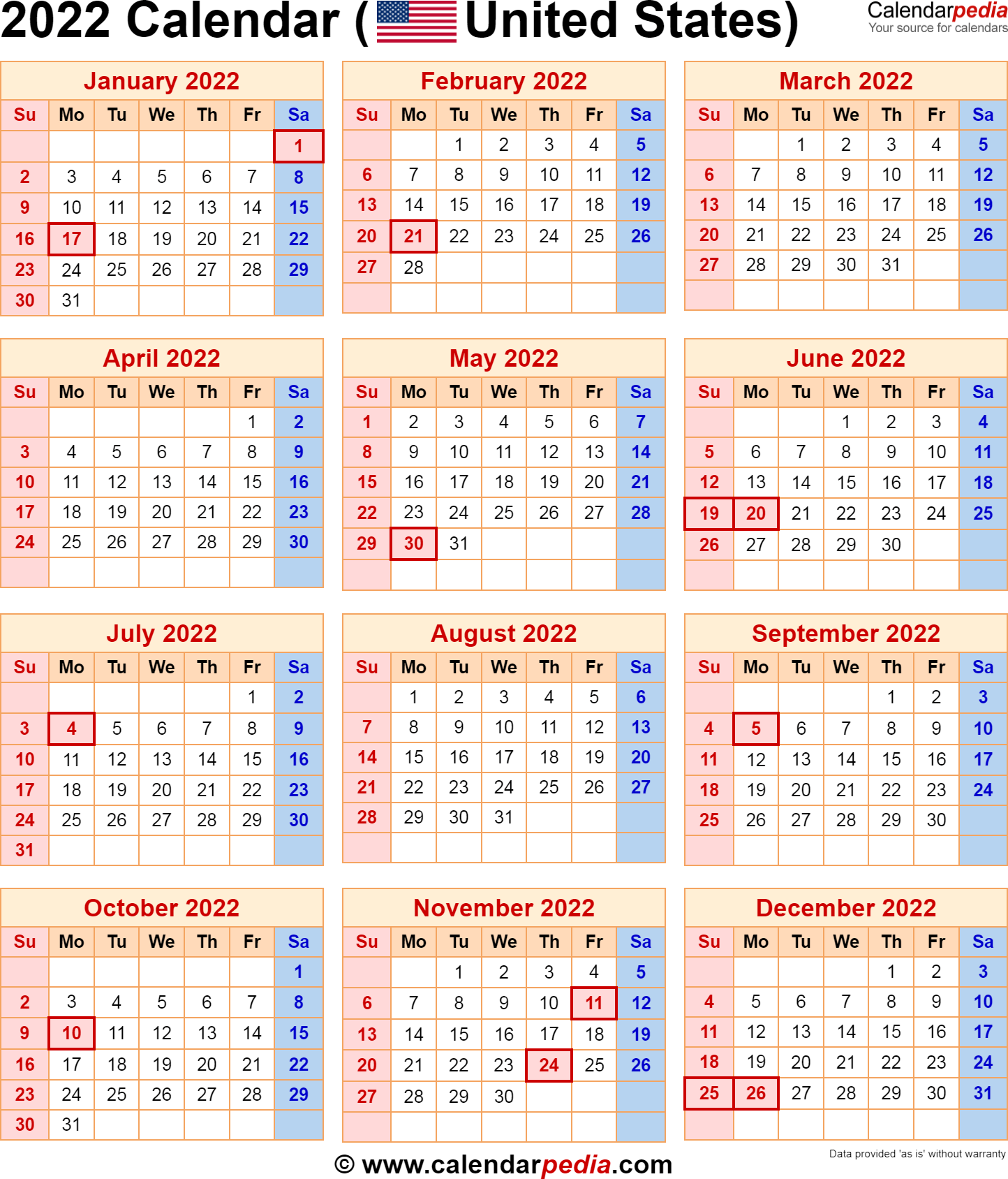 Miami University Calendar 2022 23.2022 Calendar With Federal Holidays