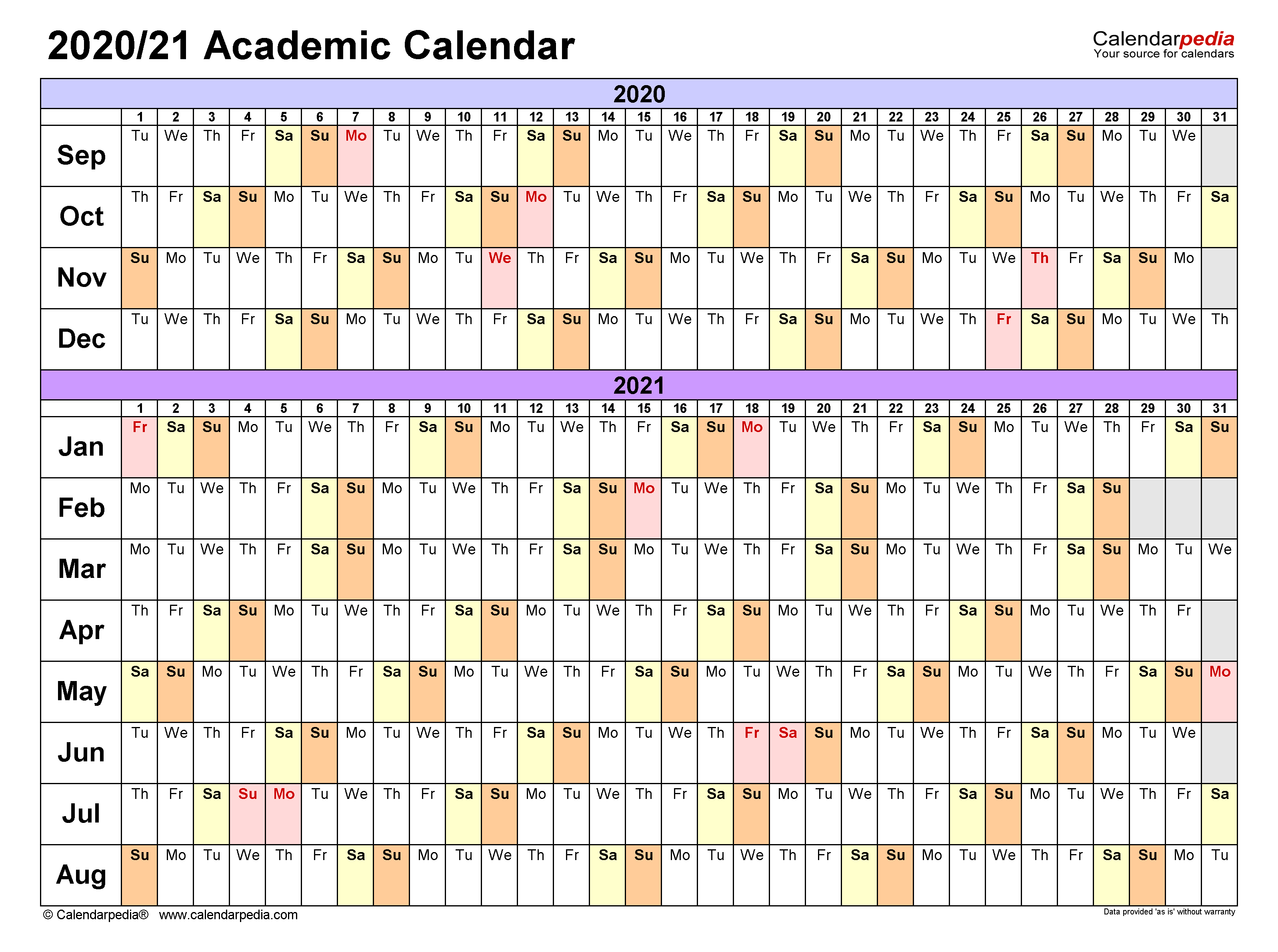 Ohio University Academic Calendar 2022 23.Academic Calendars 2020 2021 Free Printable Excel Templates