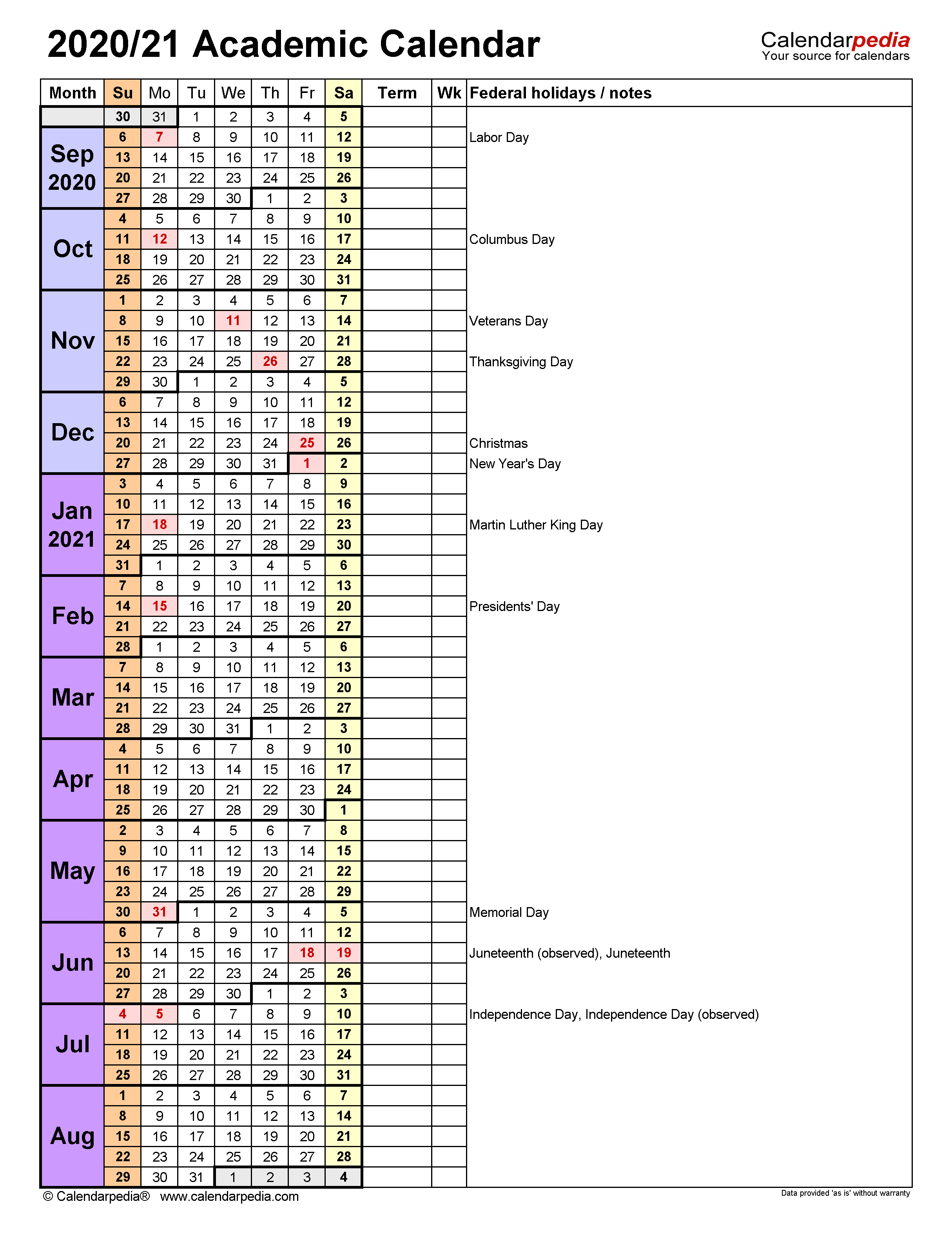U Of U Academic Calendar 2022.Academic Calendars 2020 2021 Free Printable Word Templates