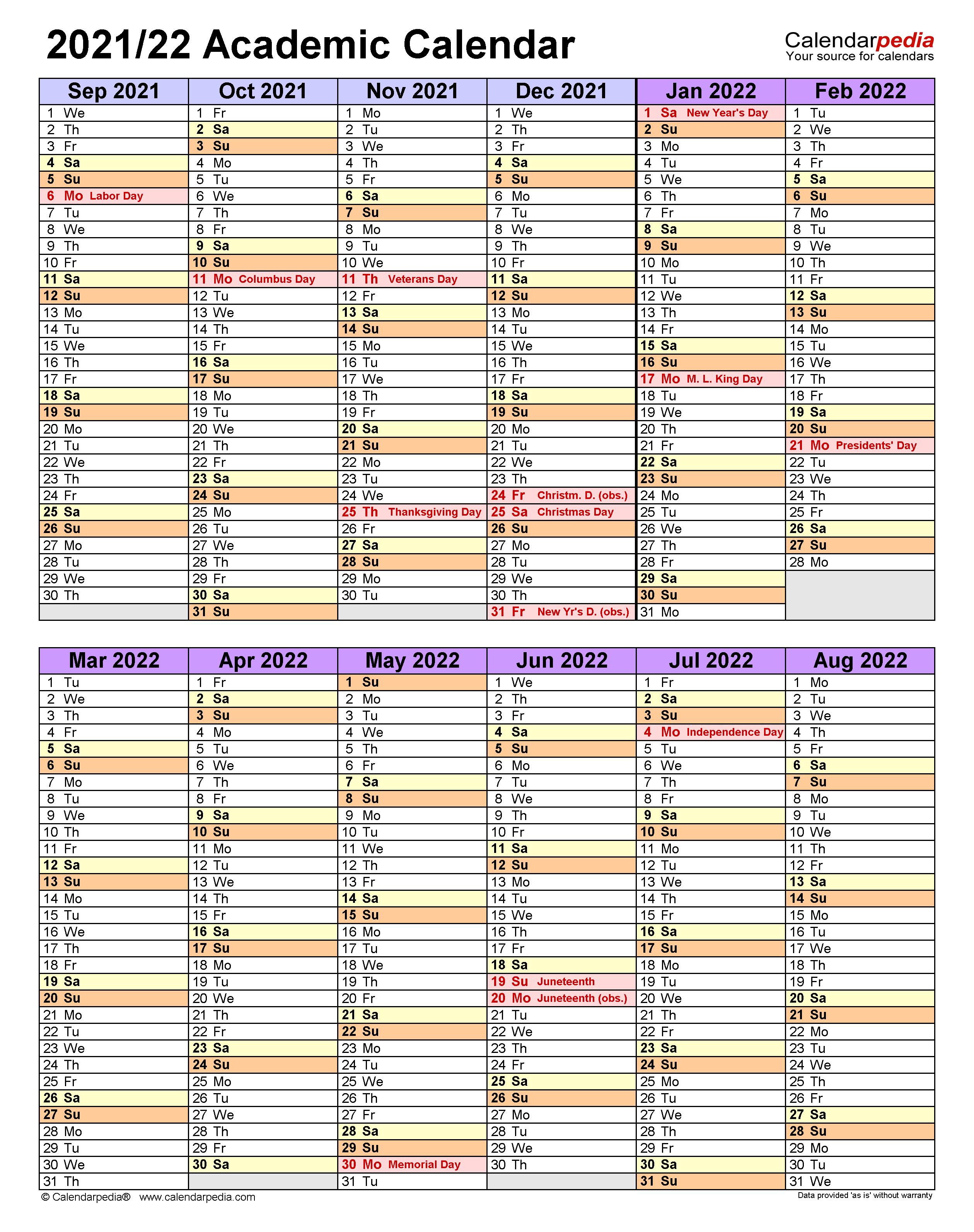 Mississippi State Academic Calendar 2022.Academic Calendars 2021 2022 Free Printable Word Templates