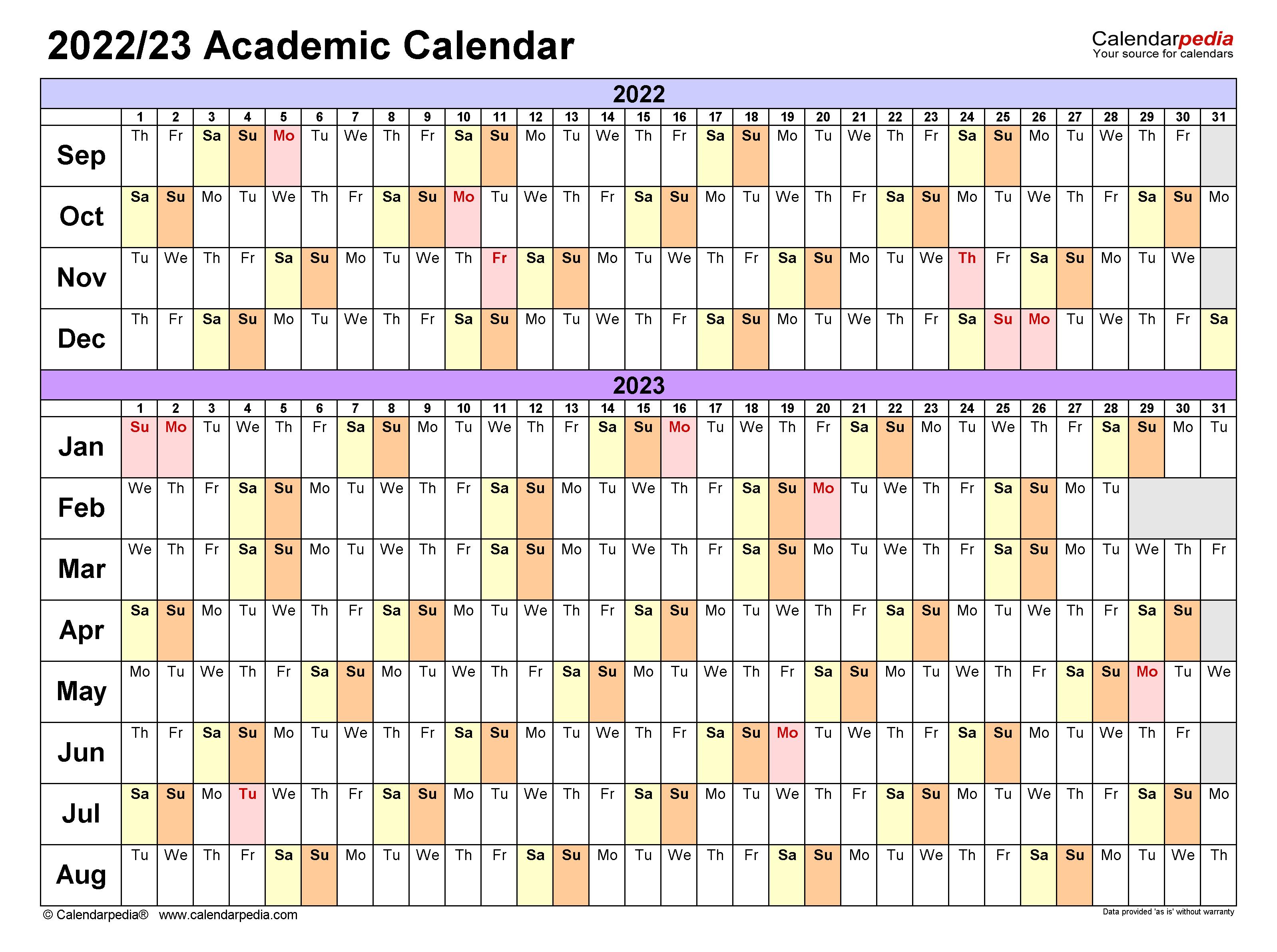 Cal Poly Academic Calendar 2022 2023.Academic Calendars 2022 2023 Free Printable Excel Templates