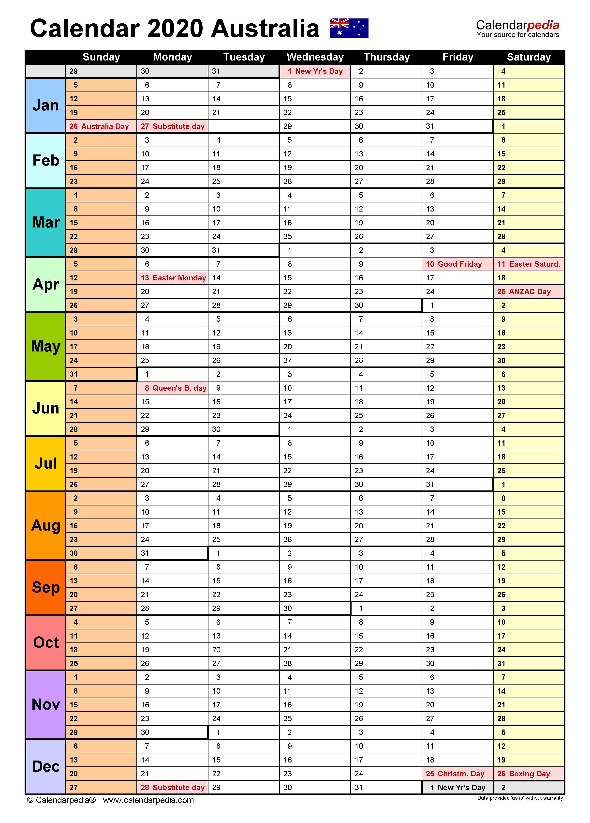 Rolling Calendar Template from www.calendarpedia.com