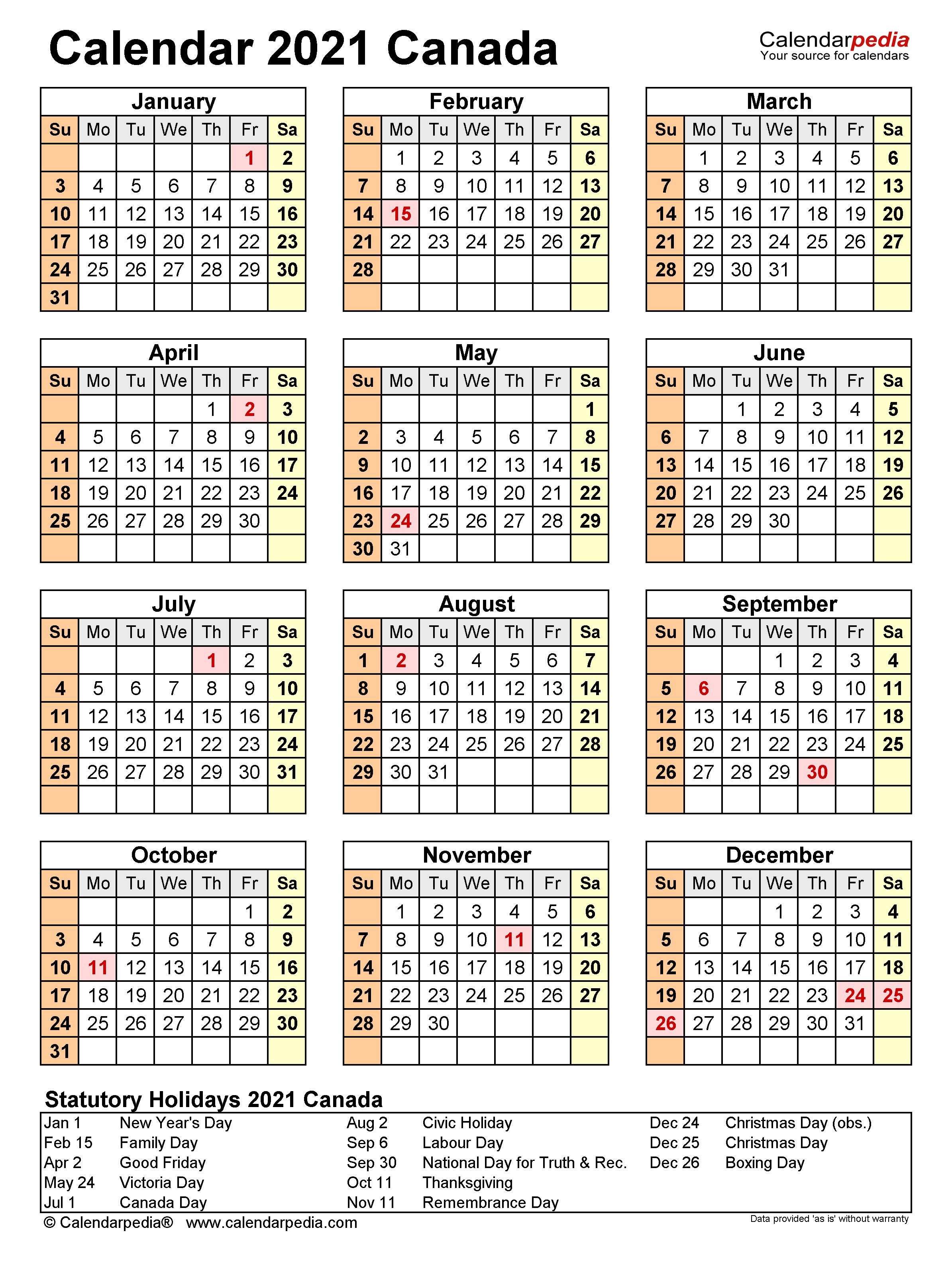 Government Of Canada 2021 Calendar | 2021 Calendar