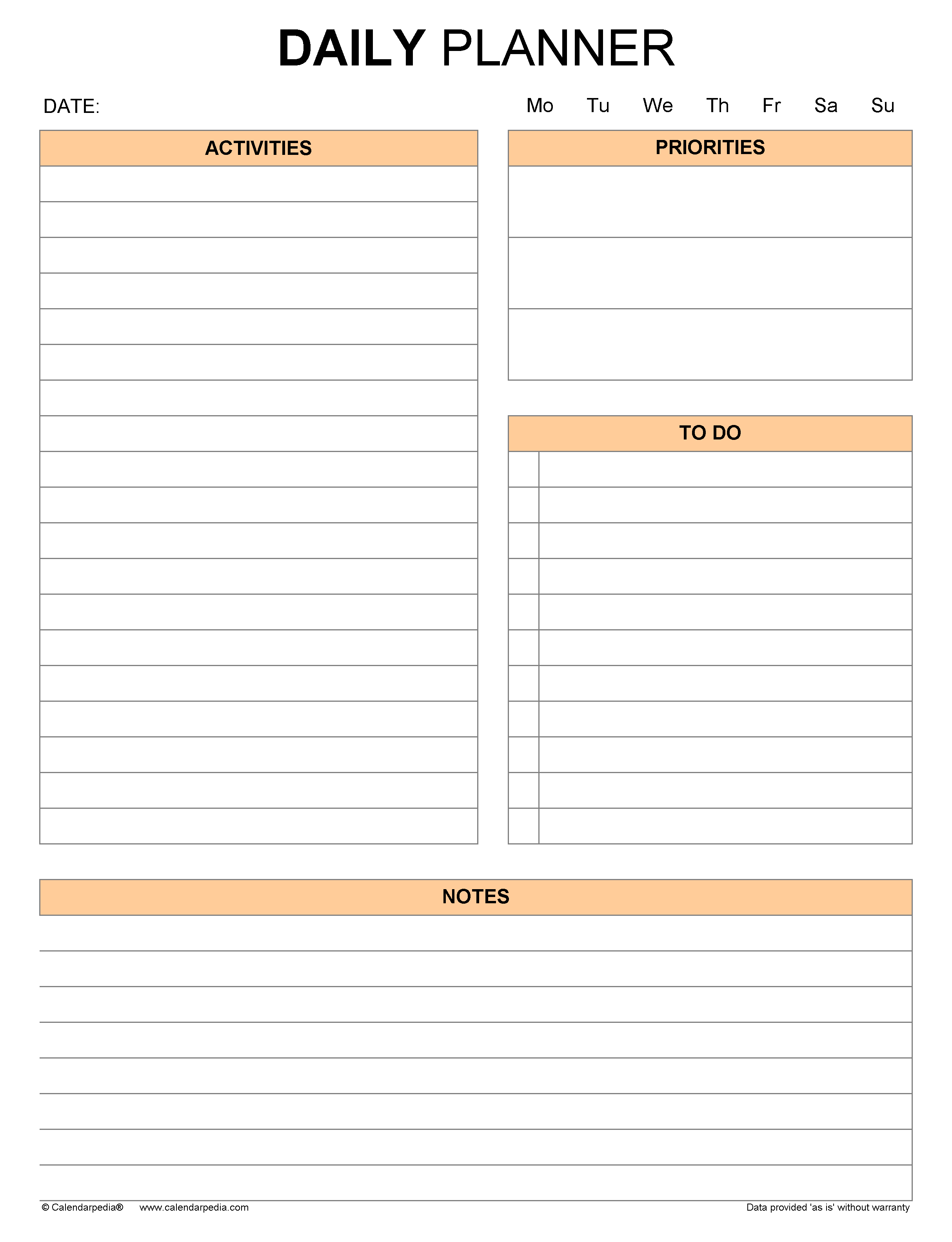 Daily planners in Microsoft Word format - 21+ templates For Hours Of Operation Template Microsoft Word