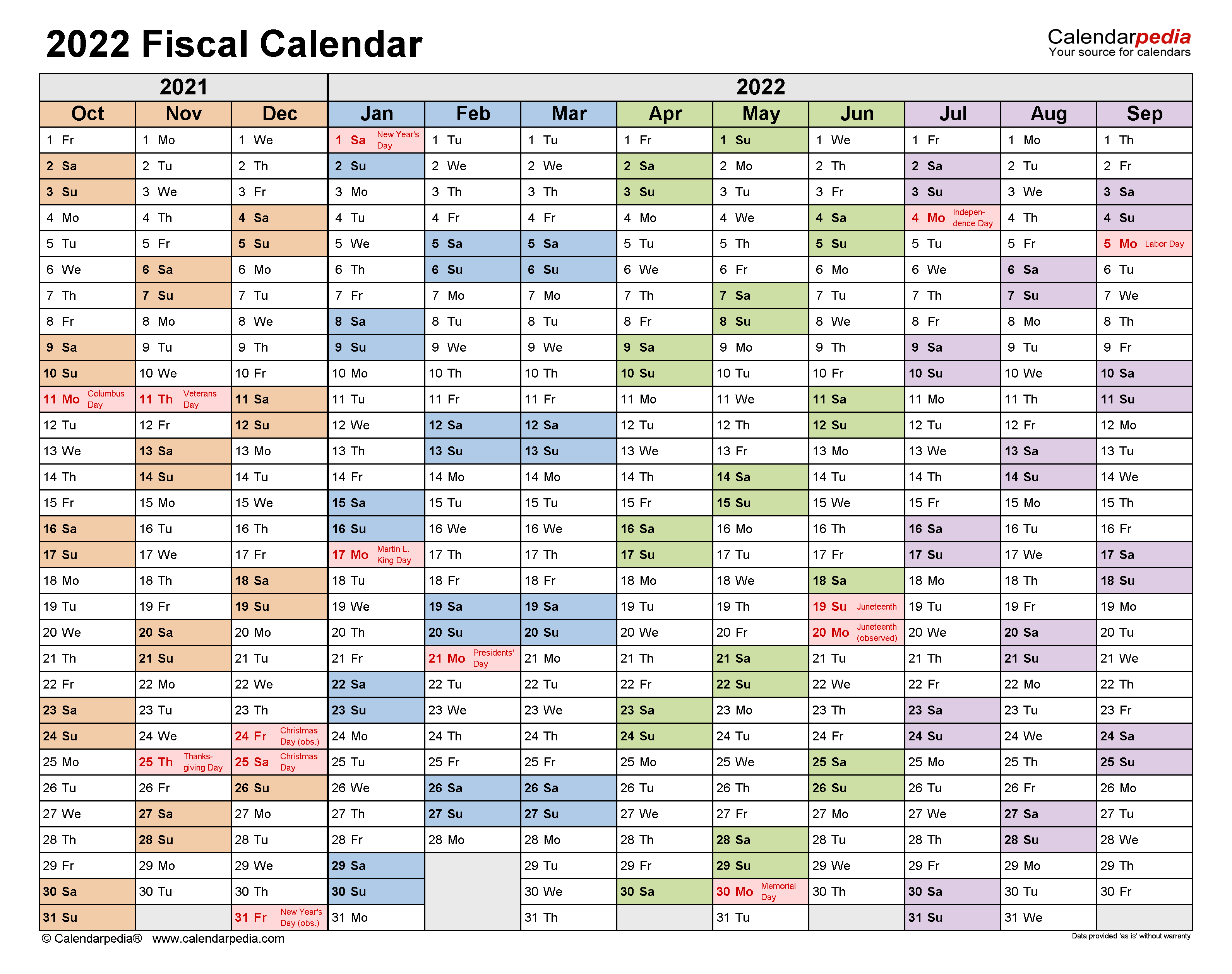 Season Finales 2022 Calendar.Fiscal Calendars 2022 Free Printable Pdf Templates