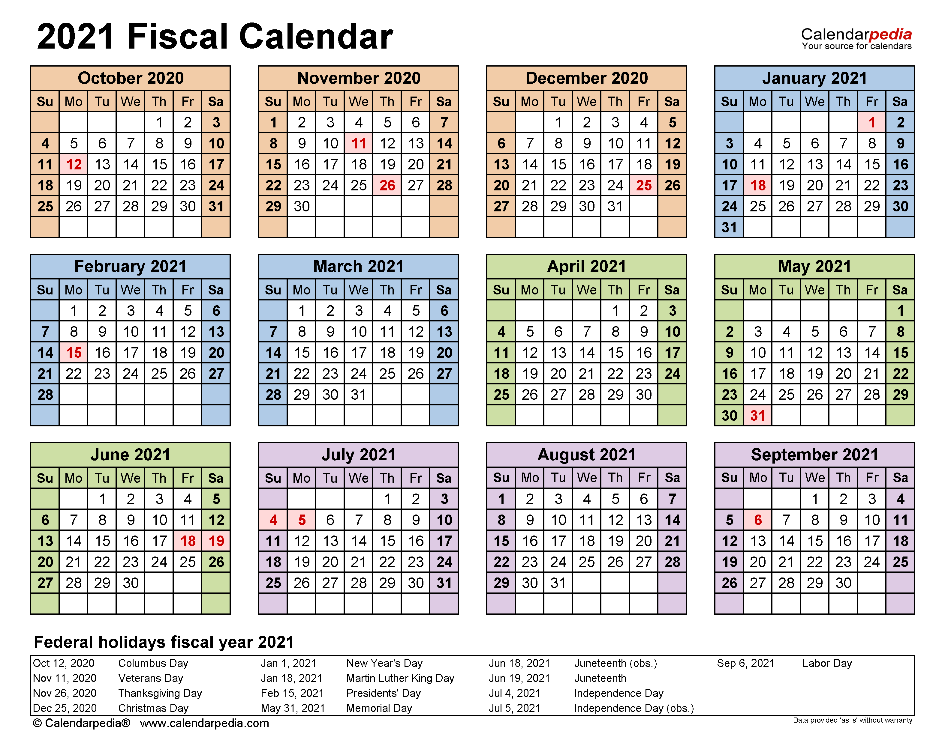 Pictures of Working Days Calendar 2021