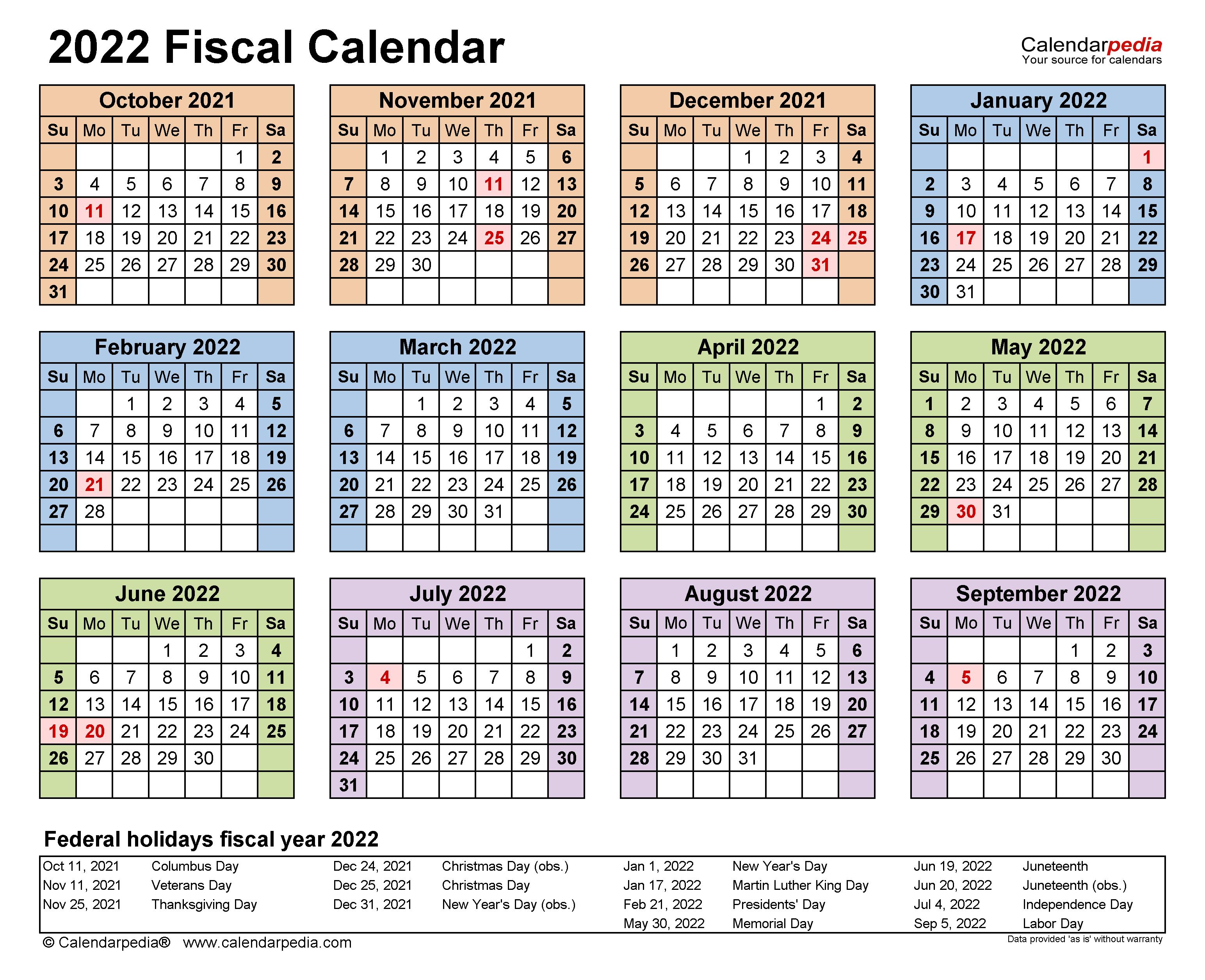 Calendrier Federale 3 2022 2023 Fiscal Calendars 2022   free printable PDF templates