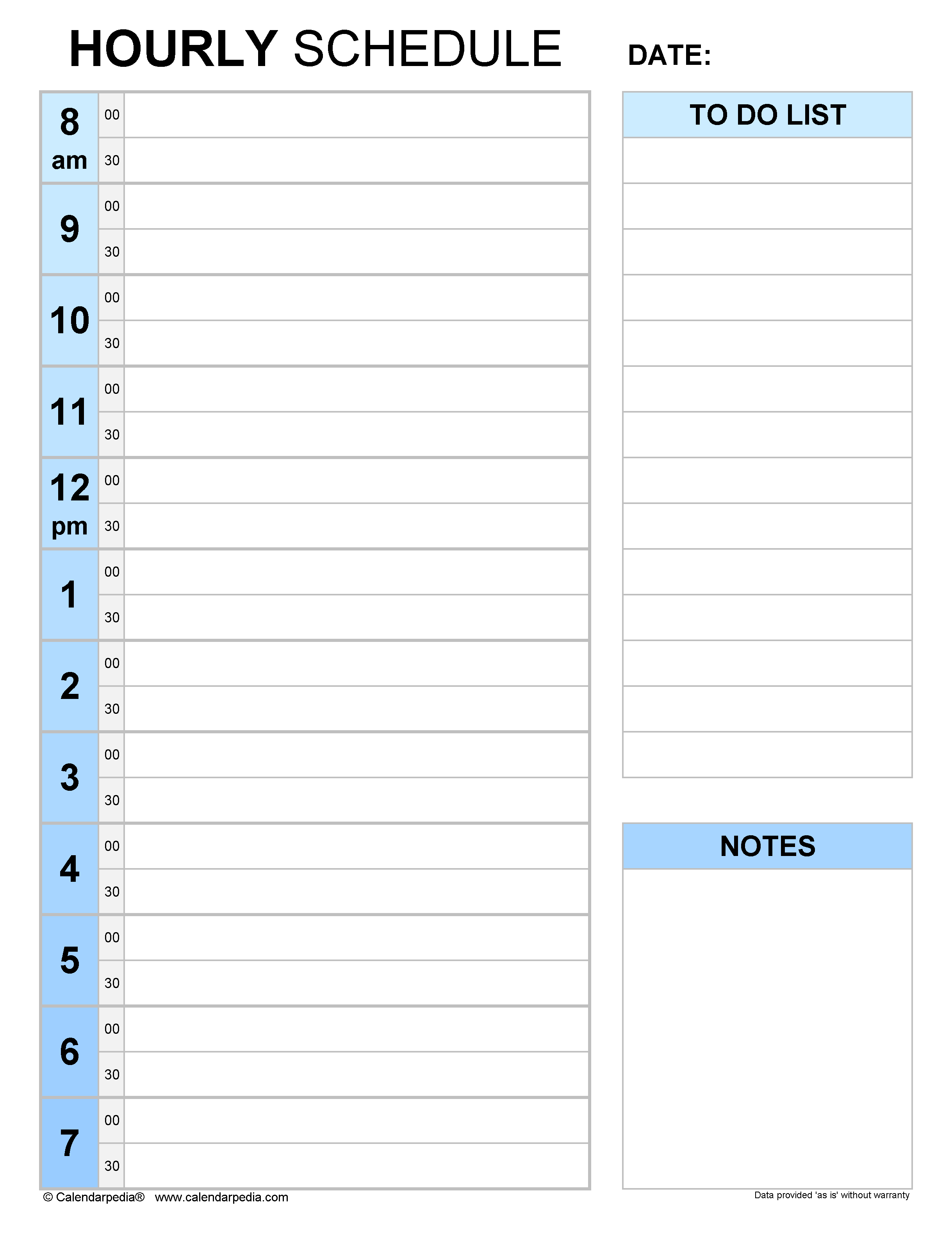 Hourly schedules in Microsoft Word format - 21+ templates With Hours Of Operation Template Microsoft Word