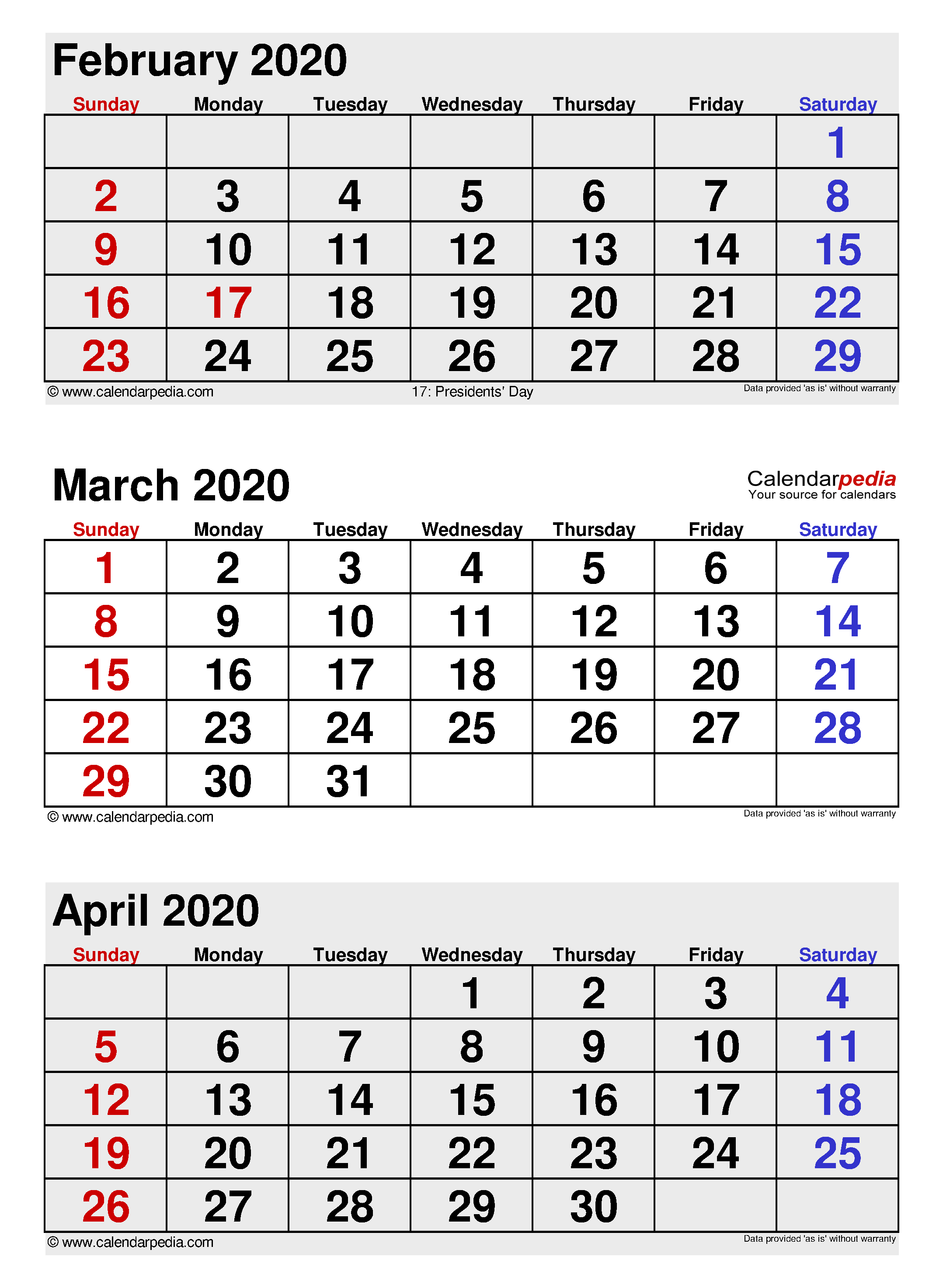 March 2020 Calendar Templates For Word Excel And Pdf