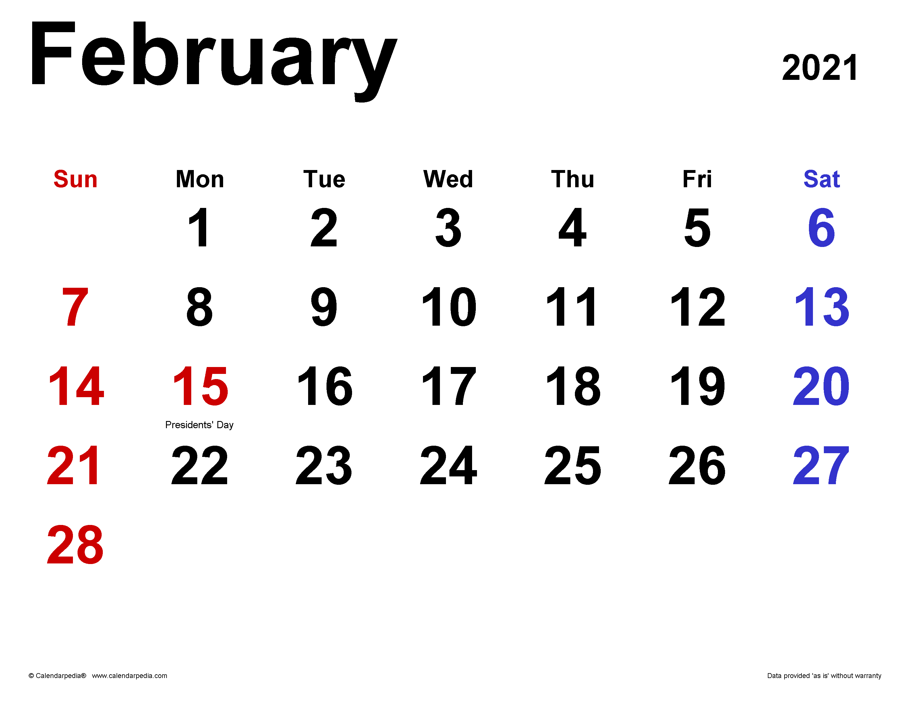 Printable 5 By 8 2021 Calendar / Printable 2021 Calendar ...