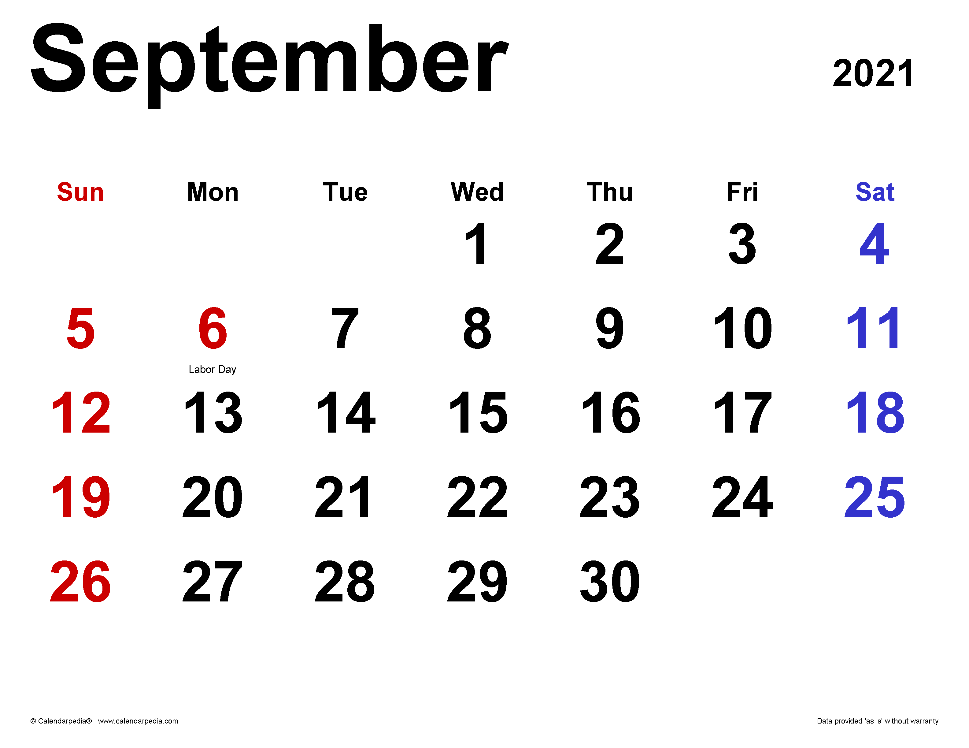 Monthly Calendar 2021 September Background
