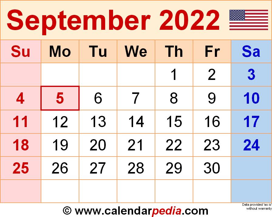 September 2022 Calendar Wallpaper.September 2022 Calendar Templates For Word Excel And Pdf