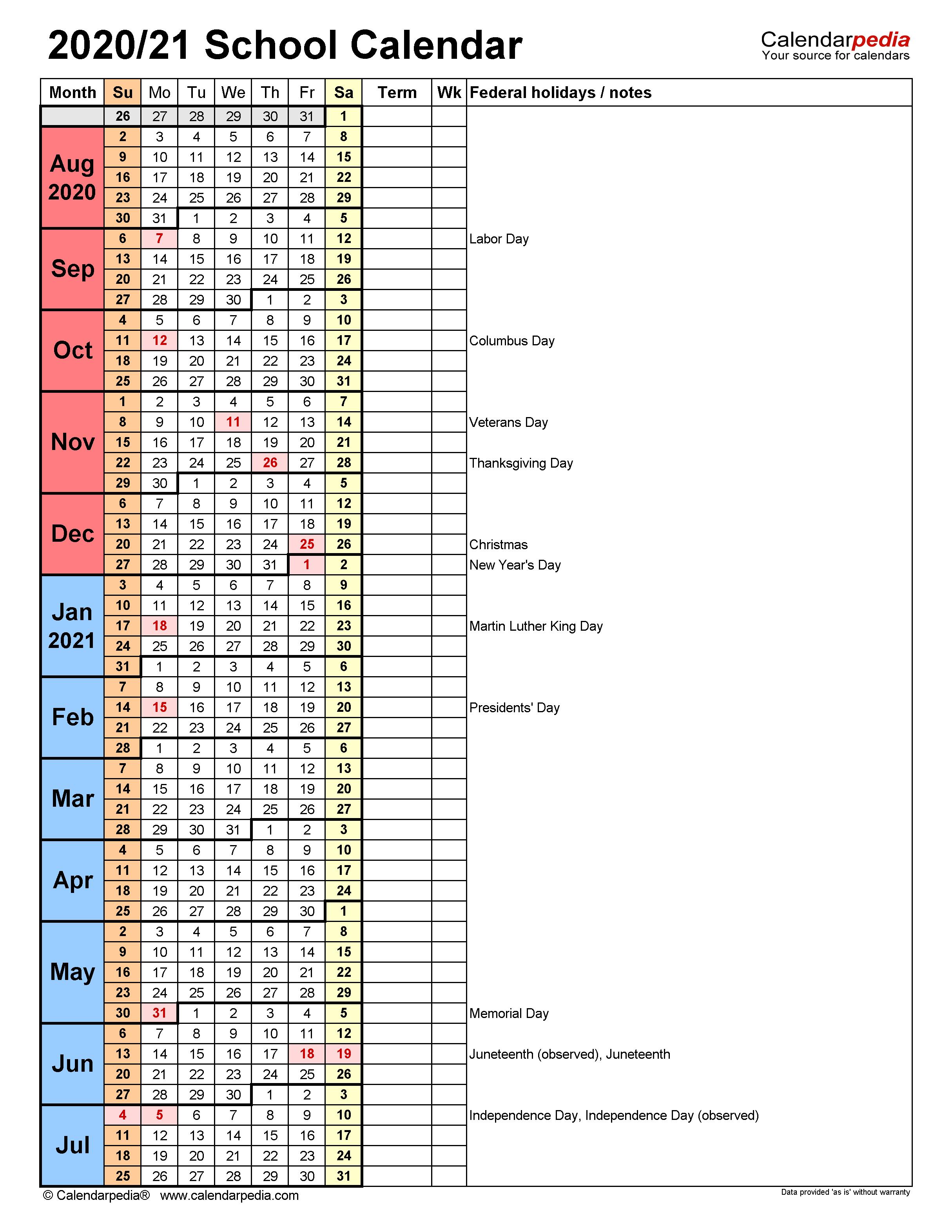 Nyc Doe 2022 23 Calendar.School Calendars 2020 2021 Free Printable Word Templates