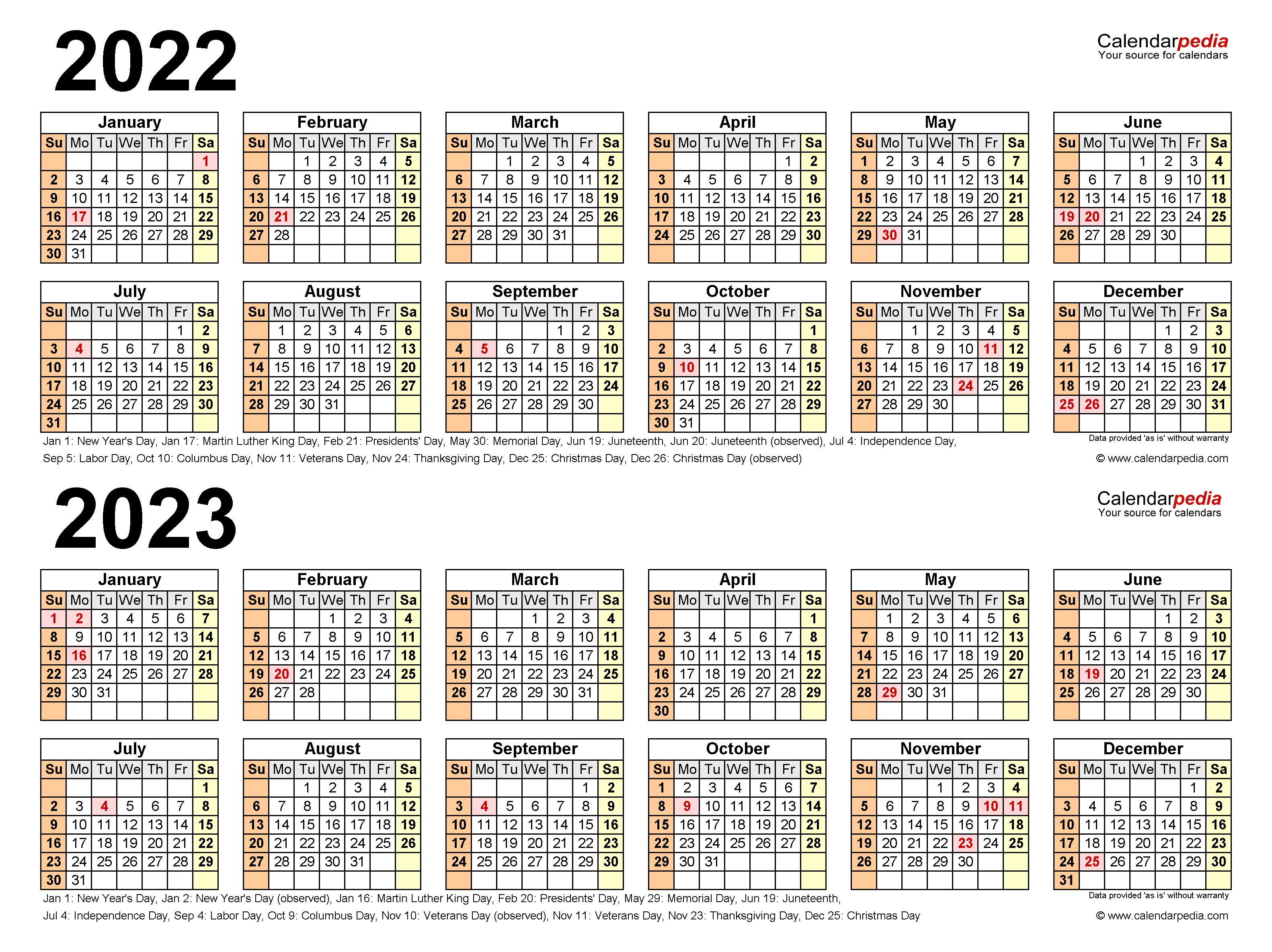 Purdue Calendar 2022 2023.2022 2023 Two Year Calendar Free Printable Pdf Templates