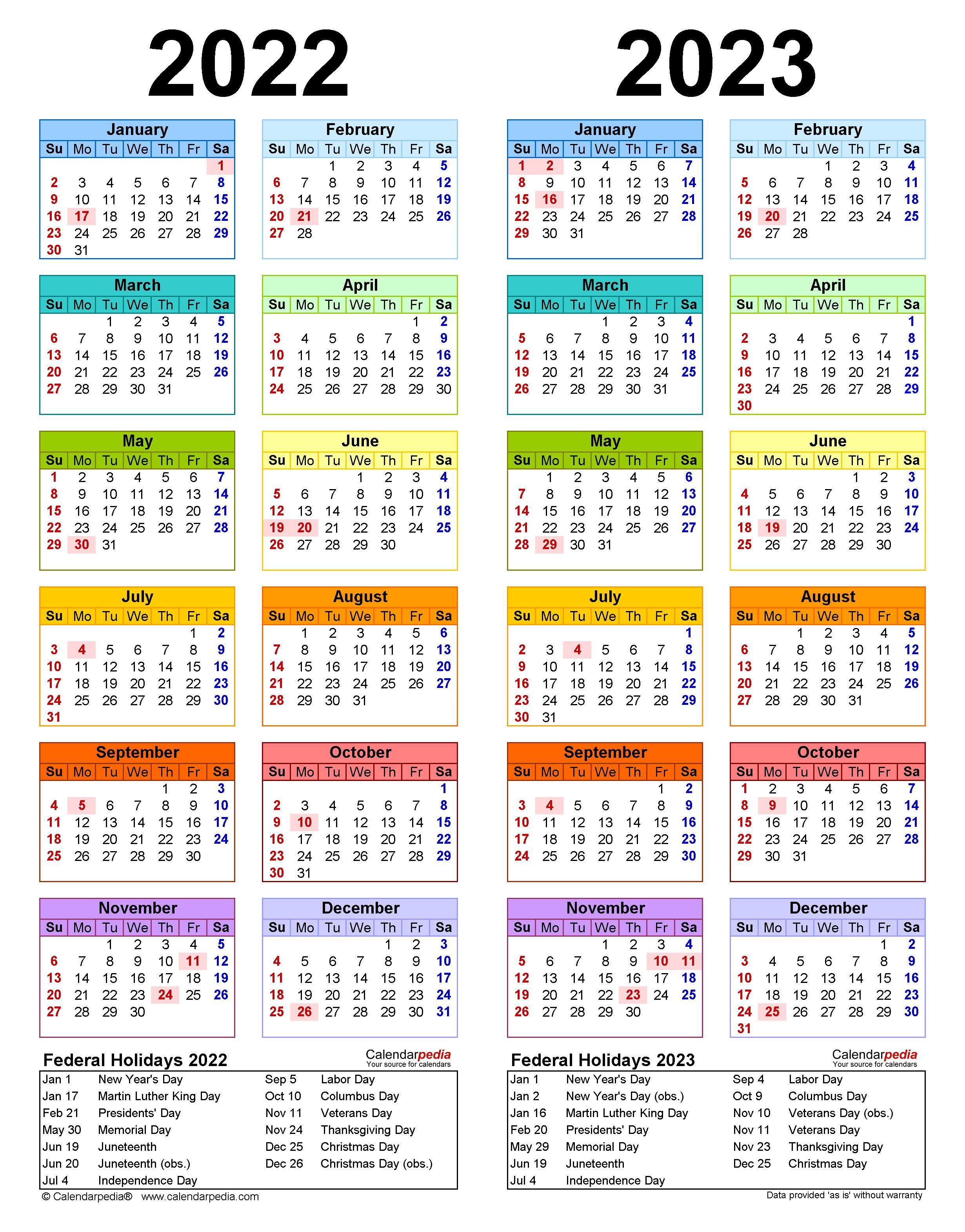 Cornell 2022 23 Calendar.2022 2023 Two Year Calendar Free Printable Pdf Templates