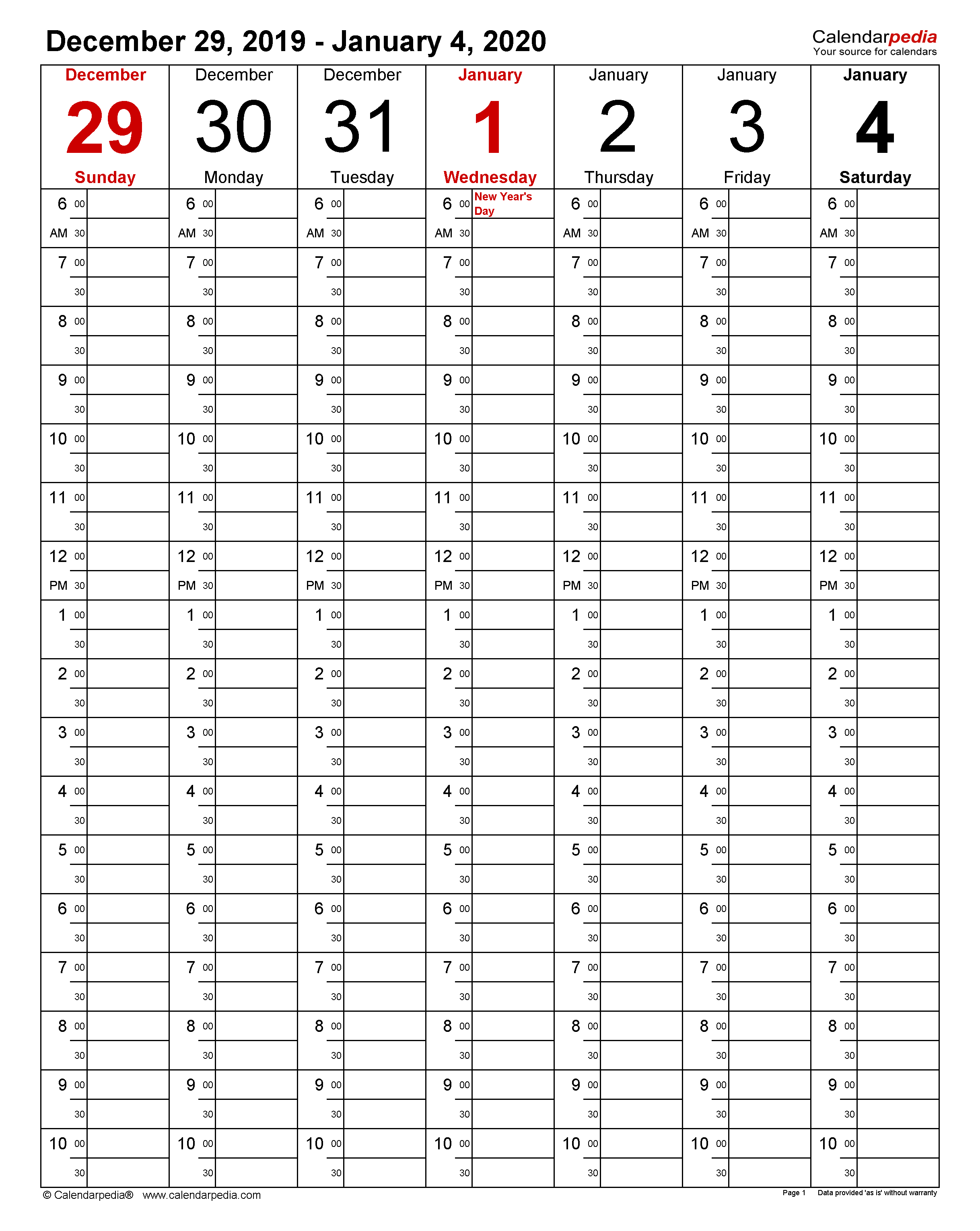 Ms Word Calendar Template 2019 from www.calendarpedia.com