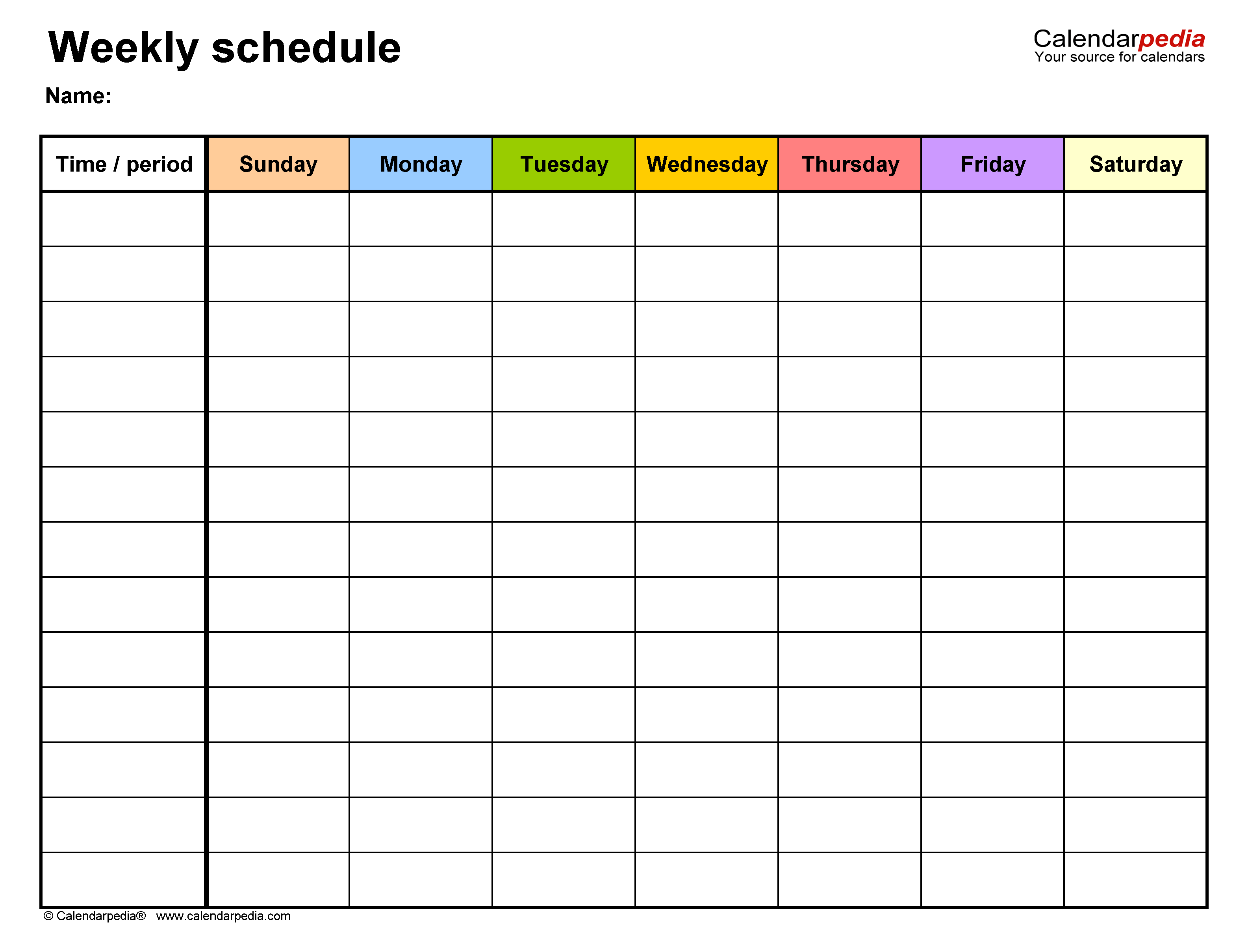 Excel Spreadsheet Template For Scheduling from www.calendarpedia.com