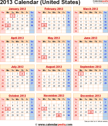 2013 Calendar With Us Federal Holidays/page/2 | New Calendar Template ...