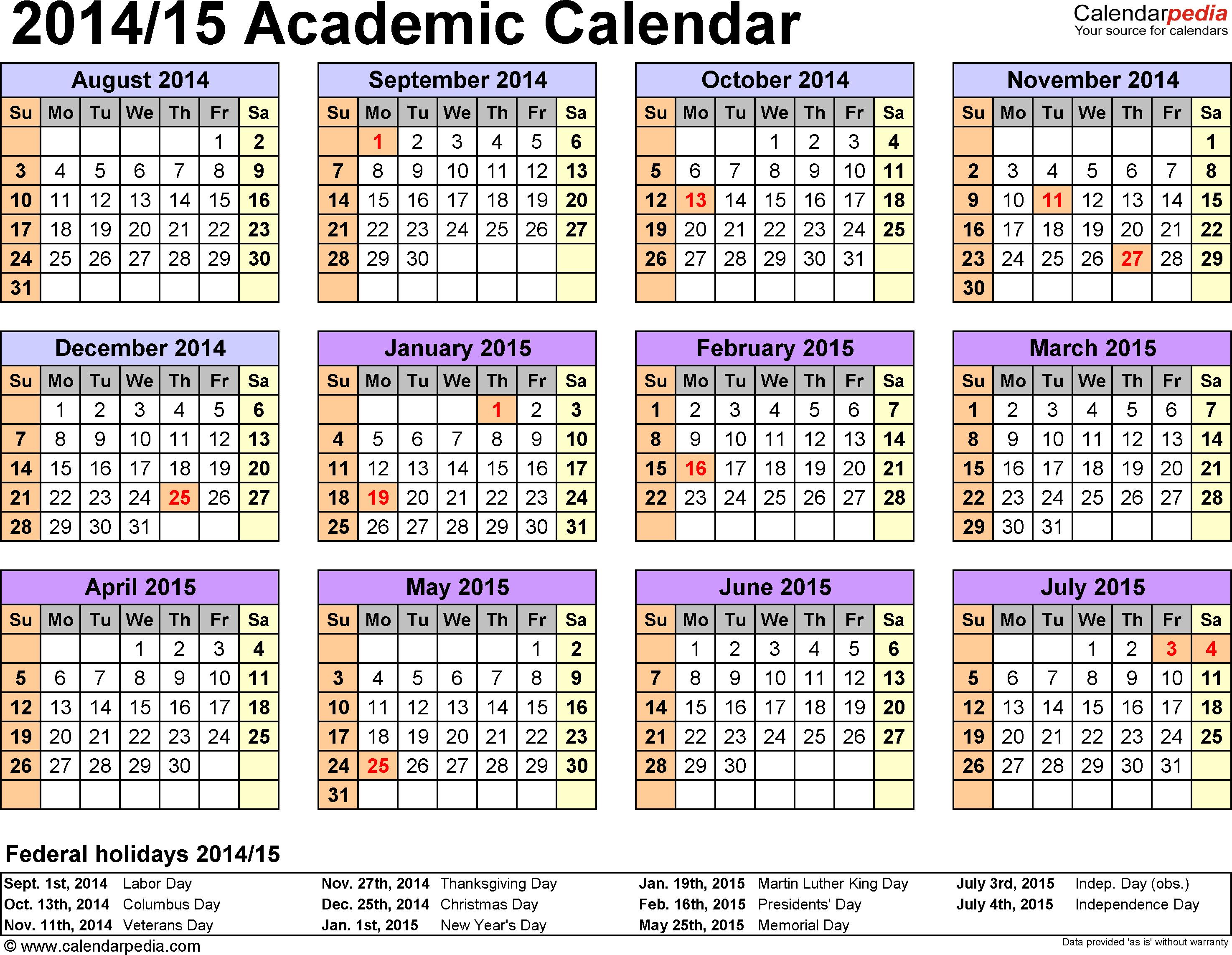 2016 Writable Excel Calendar | Calendar Template 2016