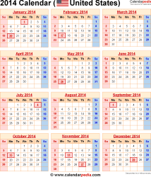 2014 Calendar With Federal Holidays Printable | galleryhip.com - The ...