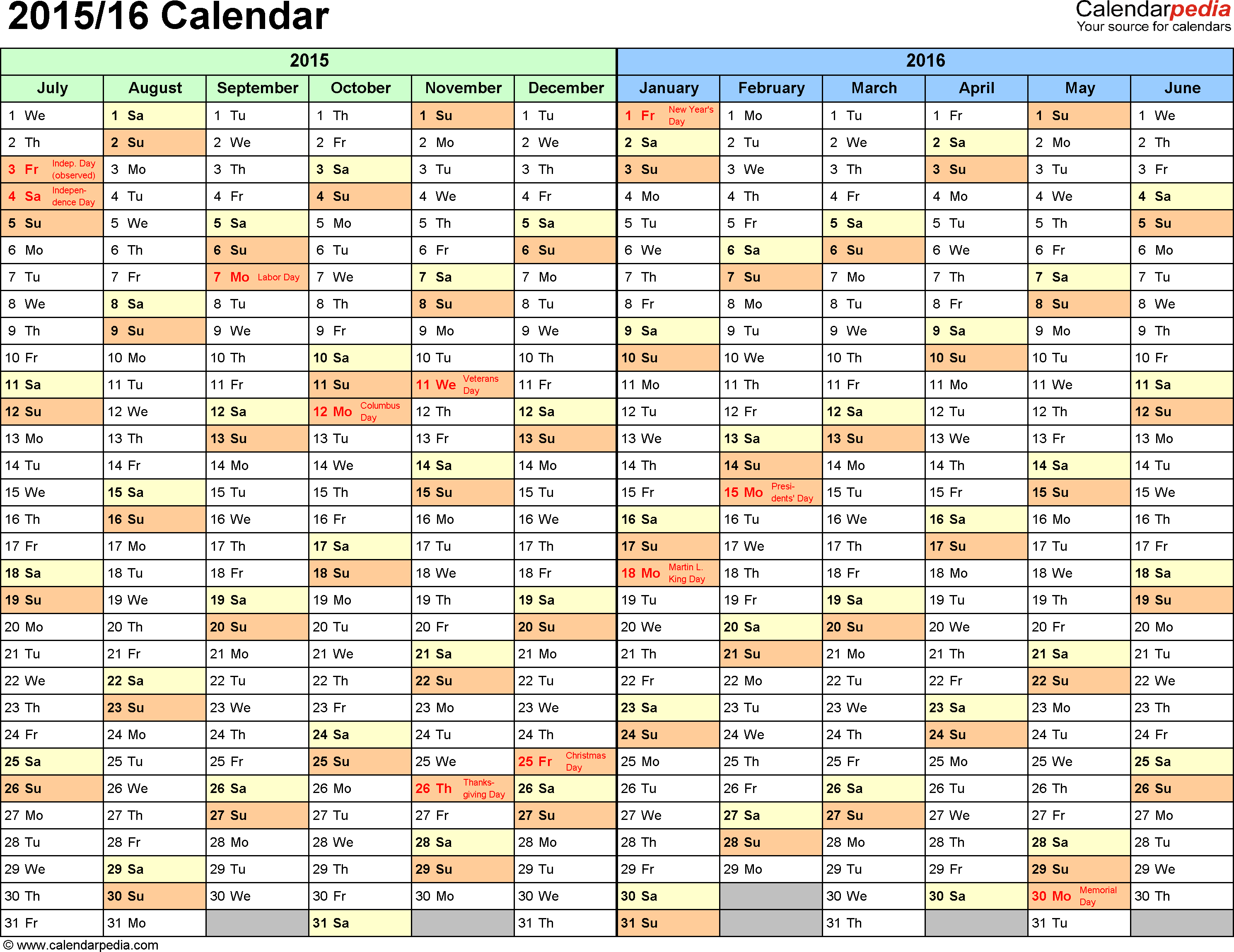 Yearly Calendars In Excel Format | myideasbedroom.com