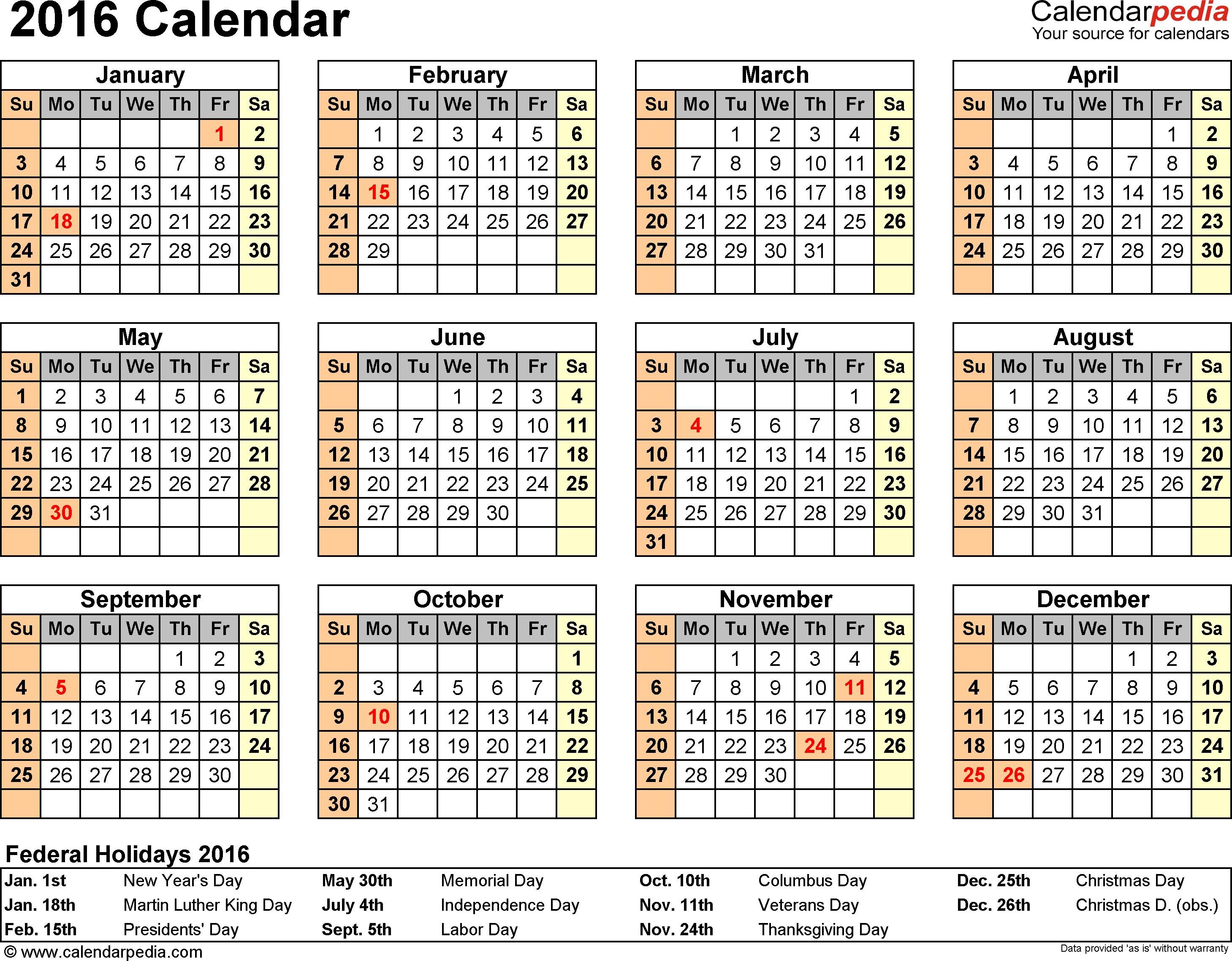 corel naptár 2016 Calendar   Download 16 free printable Excel templates (.xlsx) corel naptár