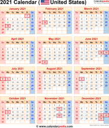 2021 calendar with federal holidays excel pdf word templates