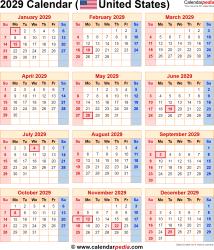 2029 Calendar