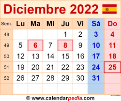 Calendario diciembre 2022 como una imagen en formato PNG
