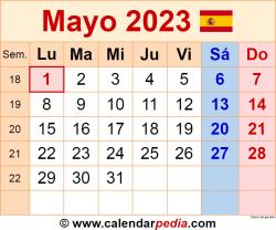 Calendario mayo 2023 como una imagen en formato PNG