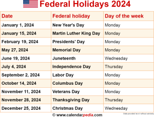 Download federal holidays 2024 as PNG file