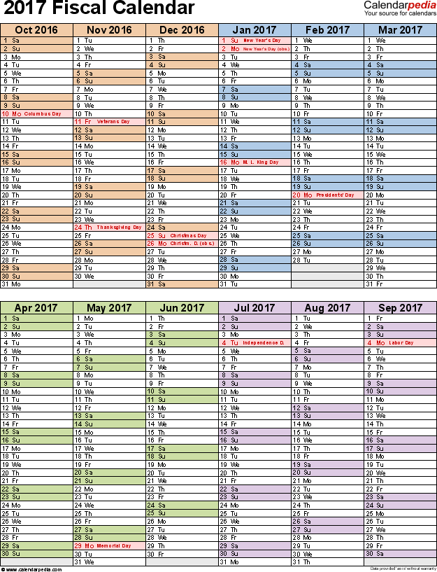 Fiscal Year Calendar Quarters : Fiscal calendars as free printable excel templates