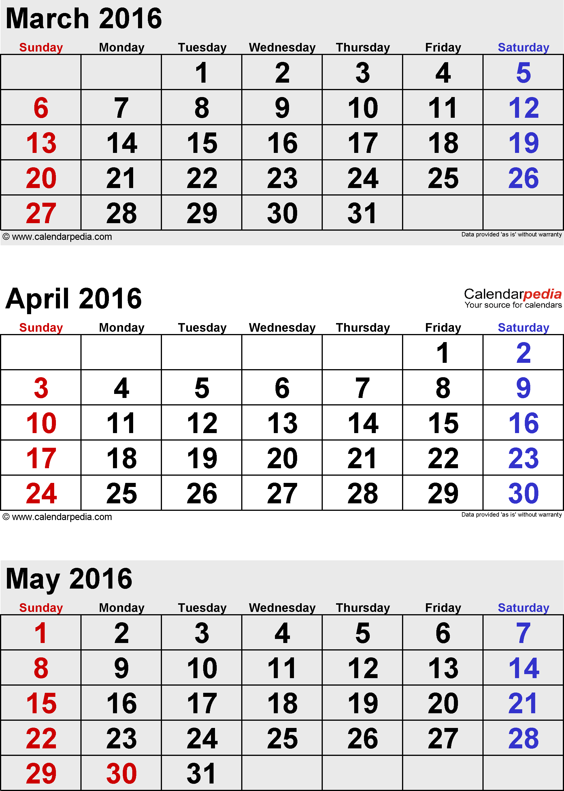 Calendar For April And May : May calendars for word excel pdf