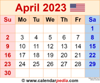 April 2023 calendar as a graphic/image file in PNG format