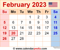 February 2023 calendar as a graphic/image file in PNG format