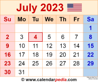 July 2023 calendar as a graphic/image file in PNG format