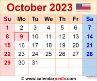 October 2023 calendar as a graphic/image file in PNG format