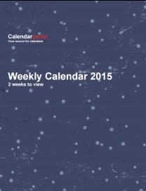 Weekly Calendar 2015 Starry Sky