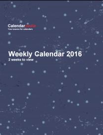 Weekly Calendar 2016 Starry Sky