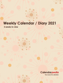 Print-ready Weekly Calendar / Diary 2021: Cover