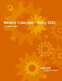 Print-ready Weekly Calendar / Diary 2022: Cover