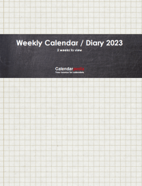 Print-ready Weekly Calendar / Diary 2023: Cover