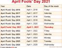 April Fools' Day 2021