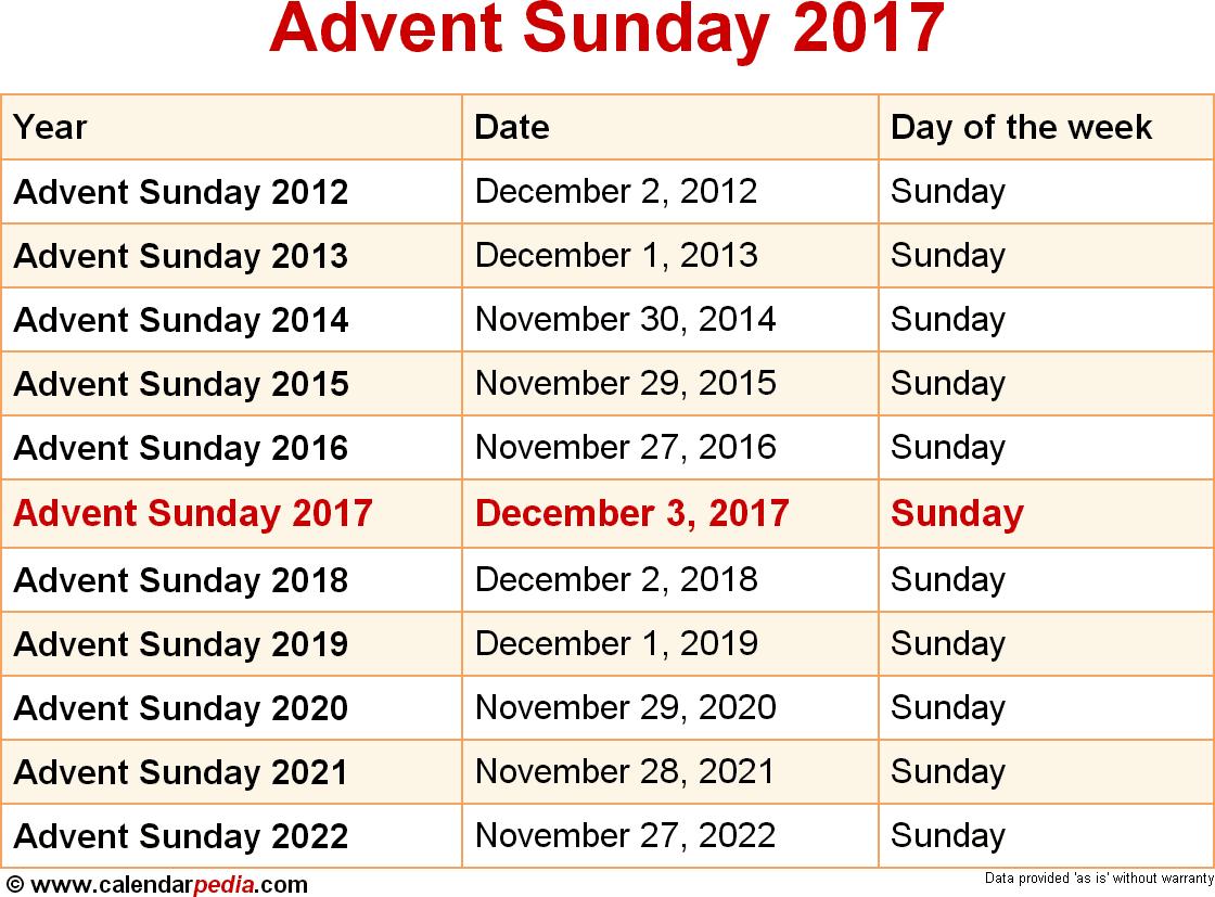 Advent Sunday 2017