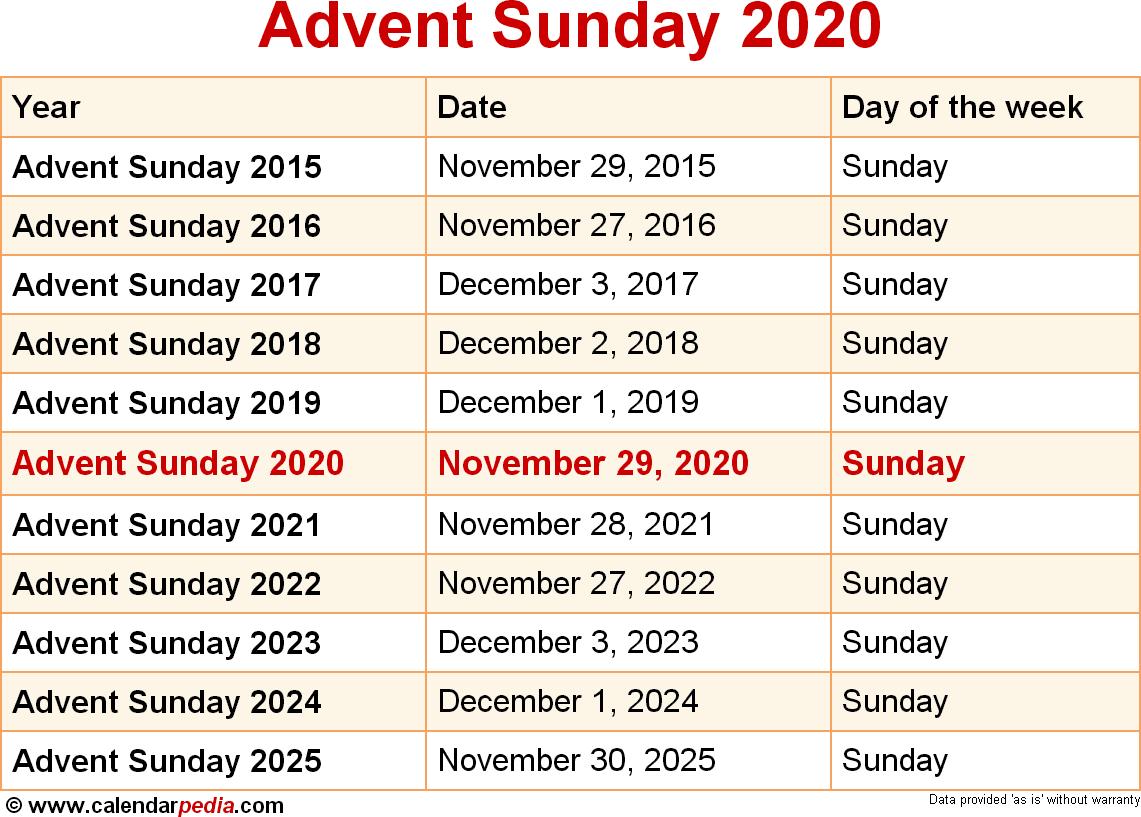 Advent Sunday 2020