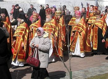Bright Week procession in Russia