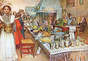 Christmas Eve, a 1904�05 watercolor painting by Carl Larsson