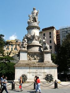 Columbus monument in Genoa, Italy